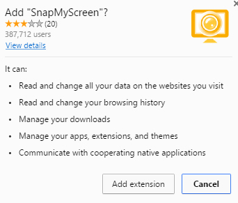 SnapMyScreen extension