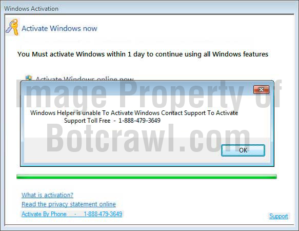fake windows activation message