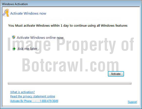 windows activation virus