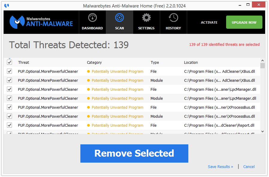 MPC Cleaner malwarebytes