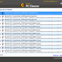 Secure PC Cleaner misleading scans