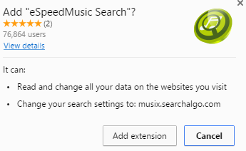 eSpeedMusic Search extension