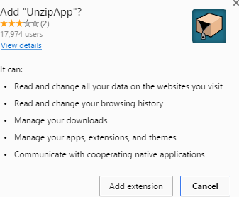 unzipapp extension