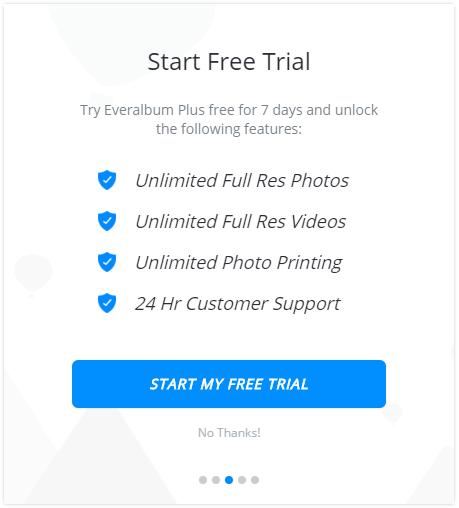 Everalbum free trial