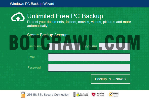 windows pc backup wizard