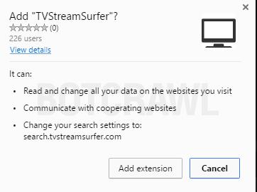 TVStreamSurfer extension