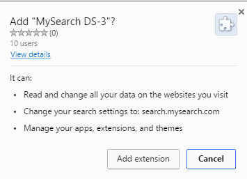 MySearch DS-3 extension