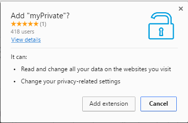 myPrivate extension