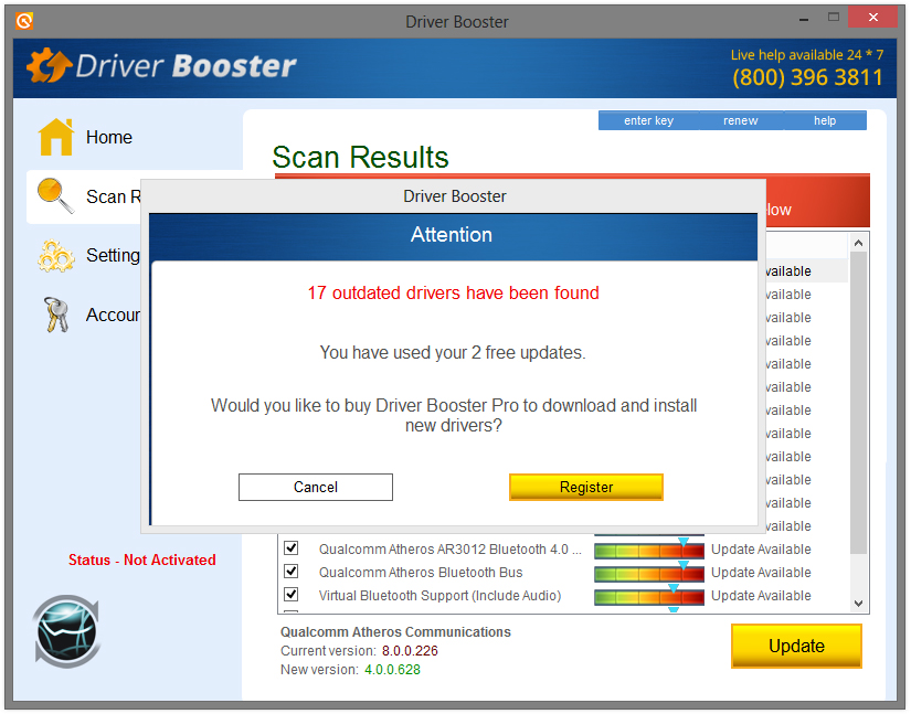 Driver Booster virus