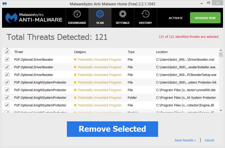Knight System Protector malwarebytes