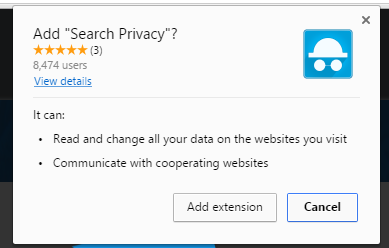 Search Privacy extension