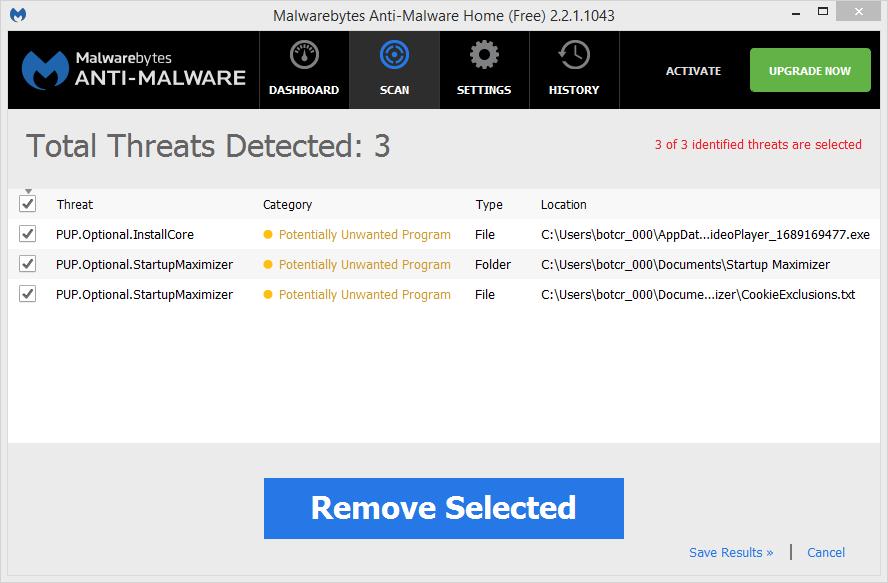 Startup Maximizer Malwarebytes