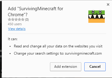 SurvivingMinecraft for Chrome extension