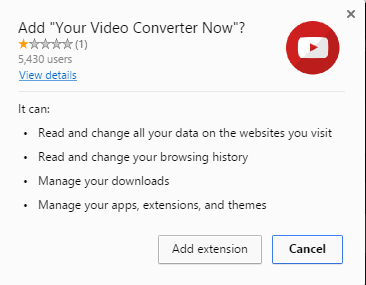 Your Video Converter Now extension