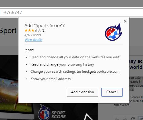 sports score extension