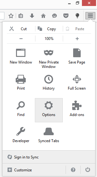 Mozilla Firefox homepage