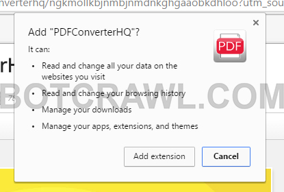 PDFConverterHQ extension
