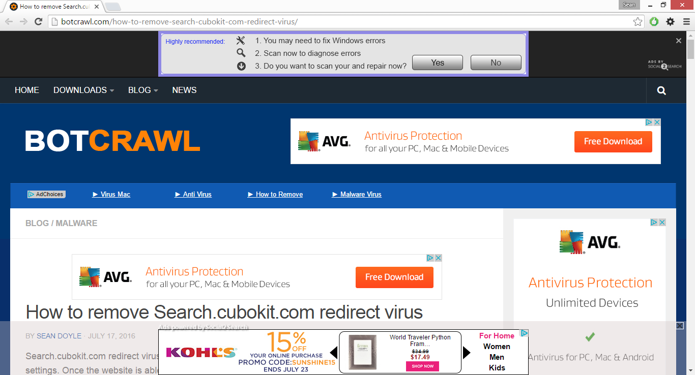 WebShoppers adware