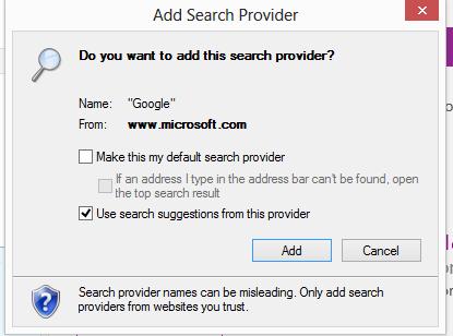 add search provider