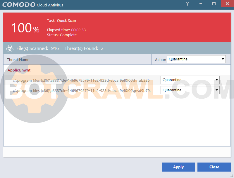 How to remove COMODO Cloud Antivirus