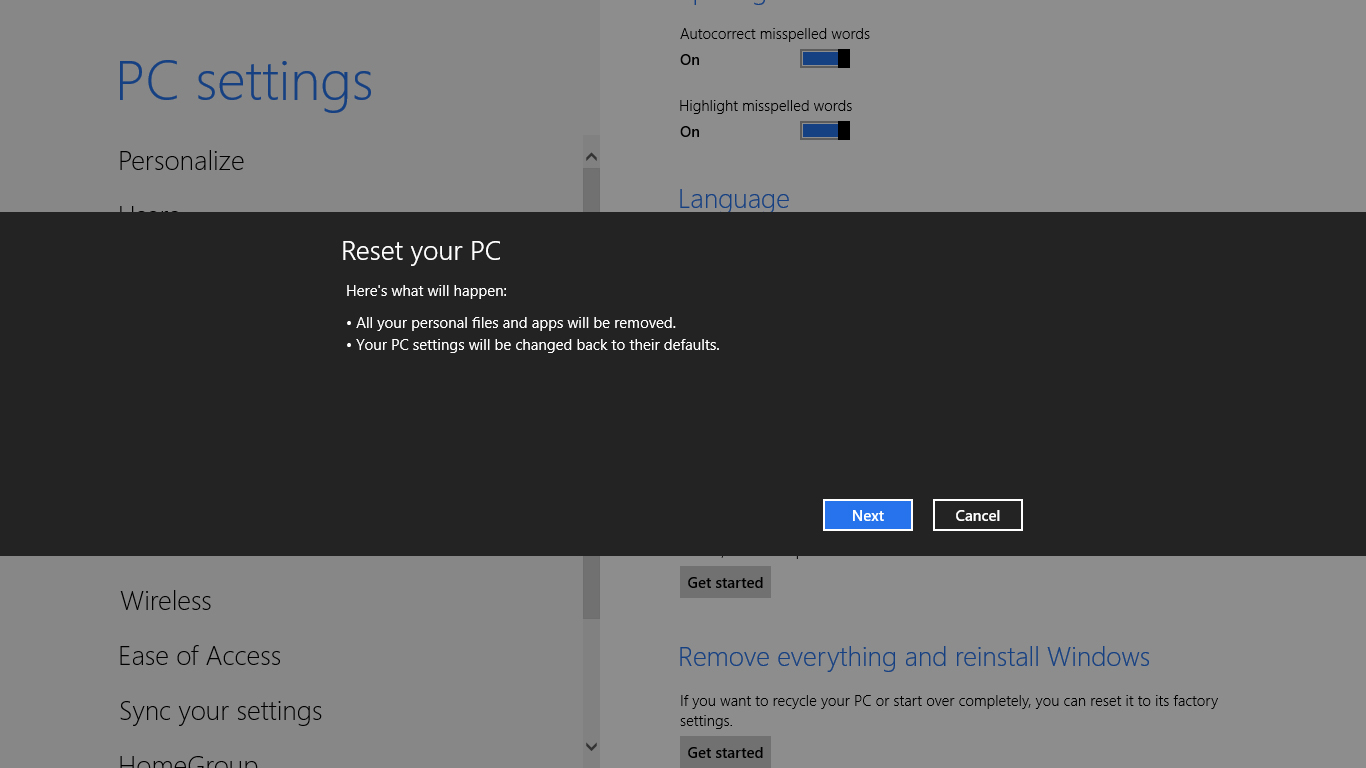 How to remove everything and reinstall Windows