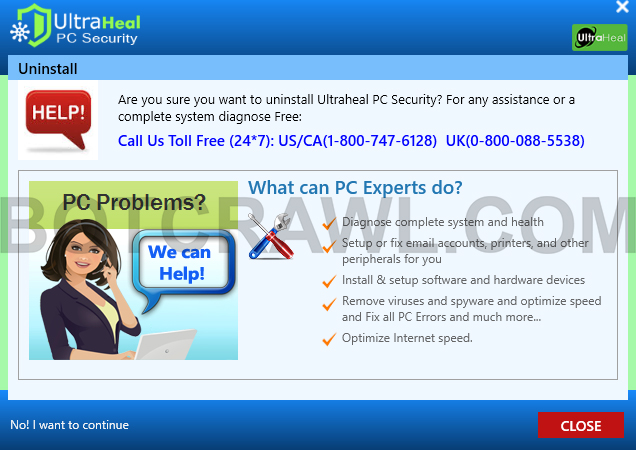 uninstall Ultraheal PC Security