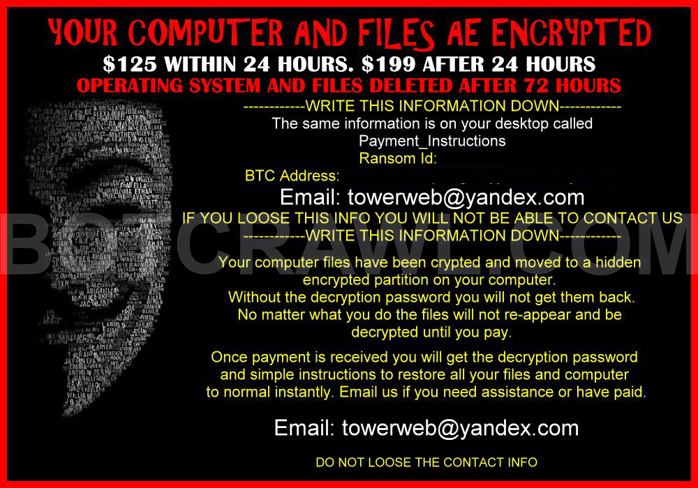 "How to remove ""Your computer and files are encrypted"" virus"