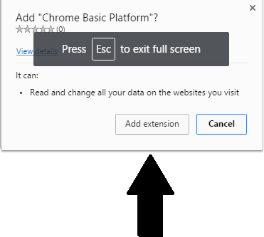 Chrome Basic Platform virus