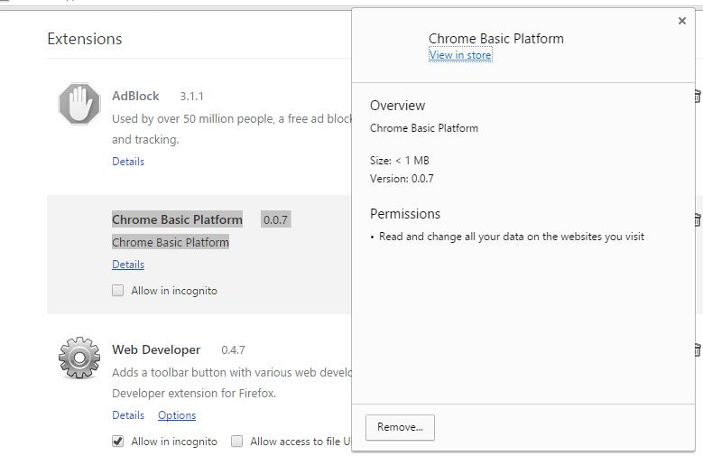 Chrome Basic Platform