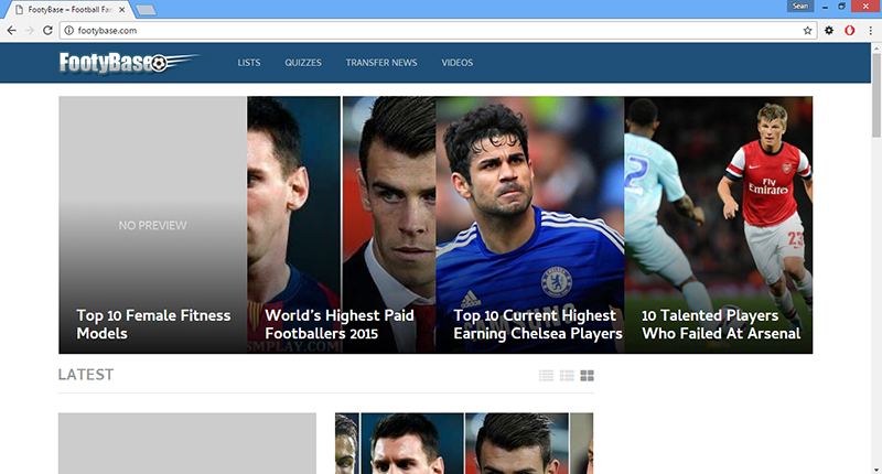 Footybase.com virus