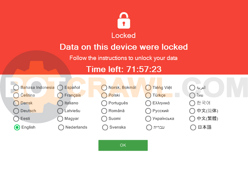 data on this device were locked