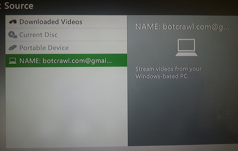 stream video from Windows to Xbox 360 6