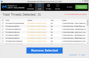weboptimum malwarebytes