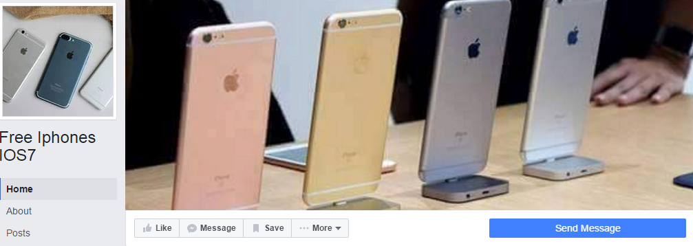 Free Iphones IOS7 giveaway scam