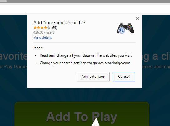 mixGames Search extension