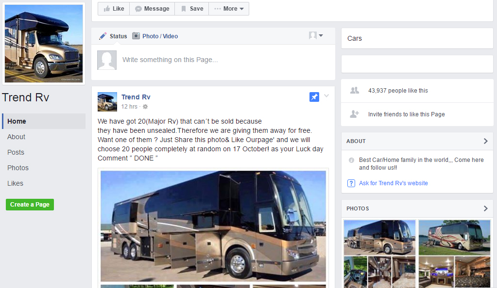 trend rv unsealed rv scam