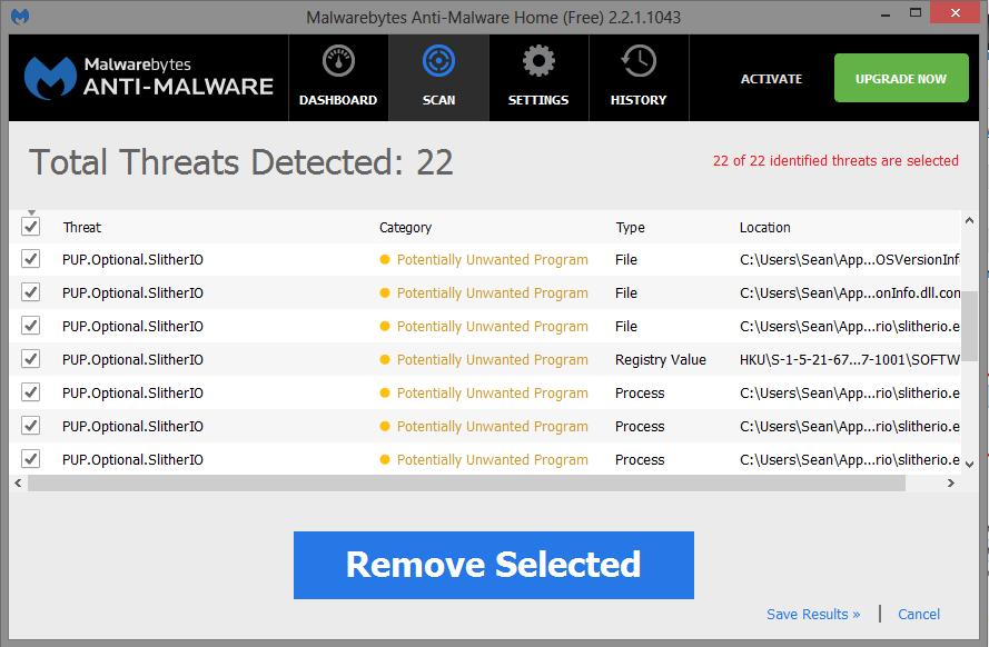 Slither IO malwarebytes