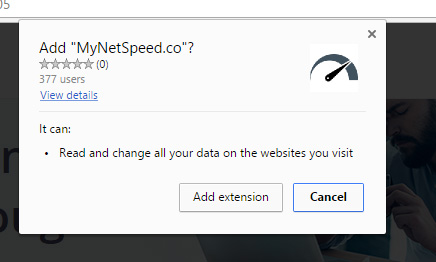 mynetspeed.co extension