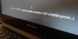 Fatal error C0000022