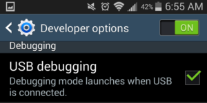 enable USB Debugging Mode on Samsung Galaxy step 5