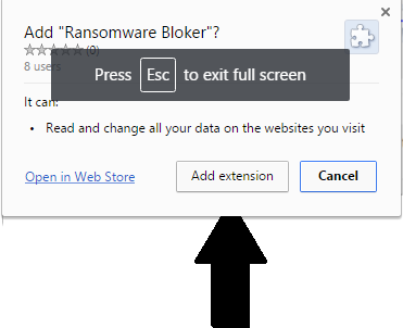 ransomware blocker extension