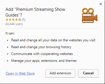 Premium Streaming Show Guides extension