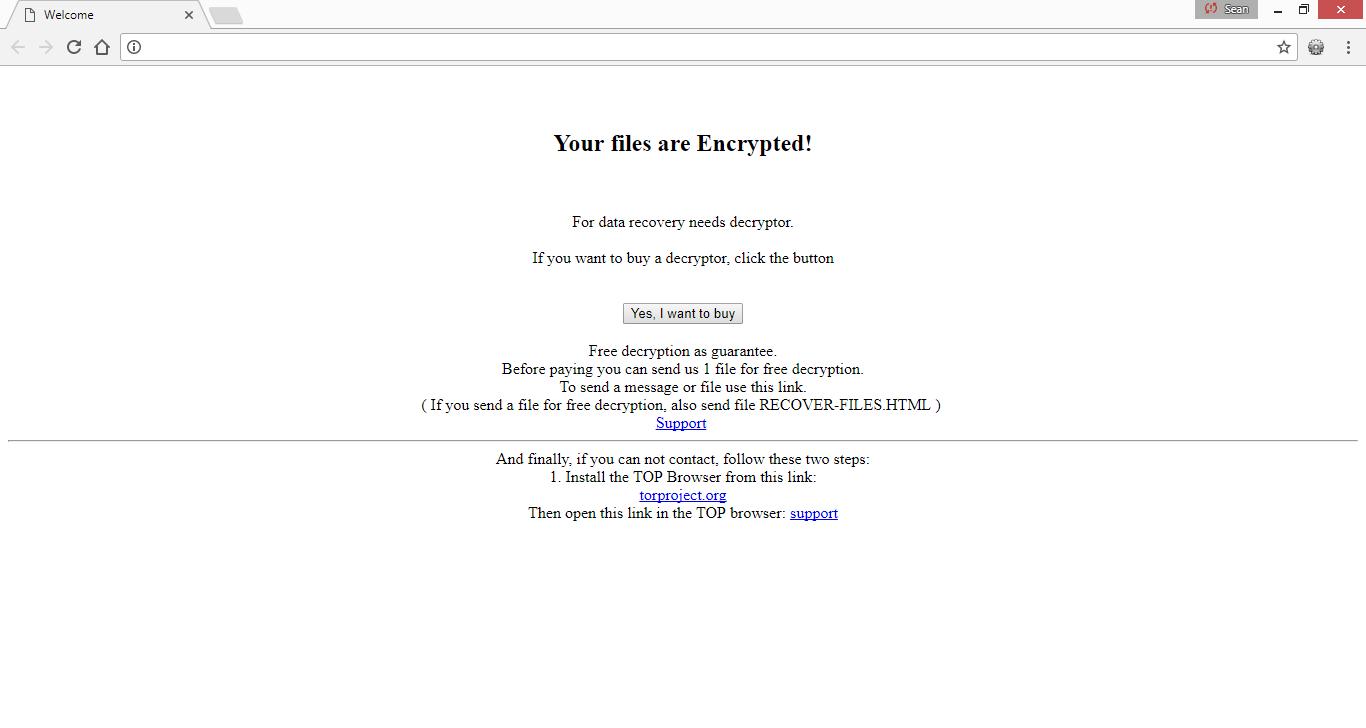 How to remove scl virus (Ransomware) - Botcrawl