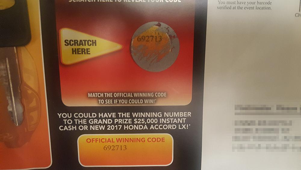 scratch and match winning number
