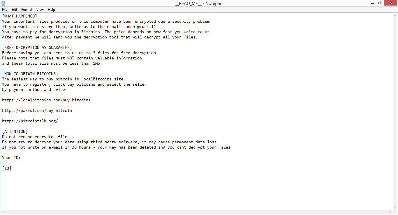 How to remove anubi ransomware virus removal botcrawl anubi ccuart Choice Image