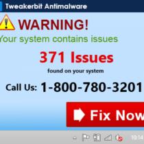 Tweakerbit Antimalware notification