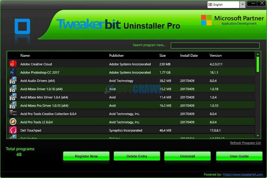 Tweakerbit Uninstaller Pro