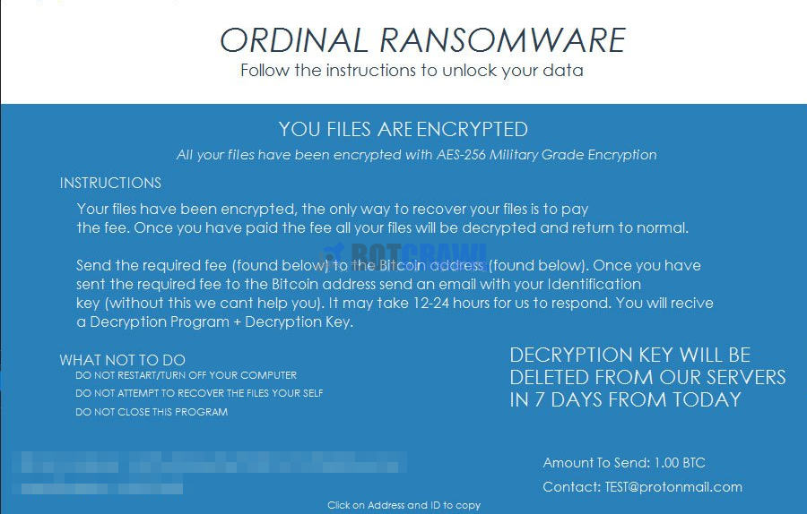 How to remove Ordinal Ransomware (Virus Removal) - Botcrawl