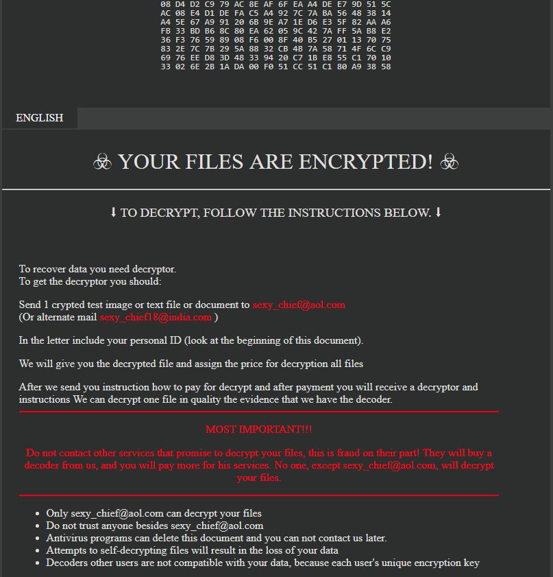 How to remove SEXY virus (Ransomware Removal Guide) - Botcrawl