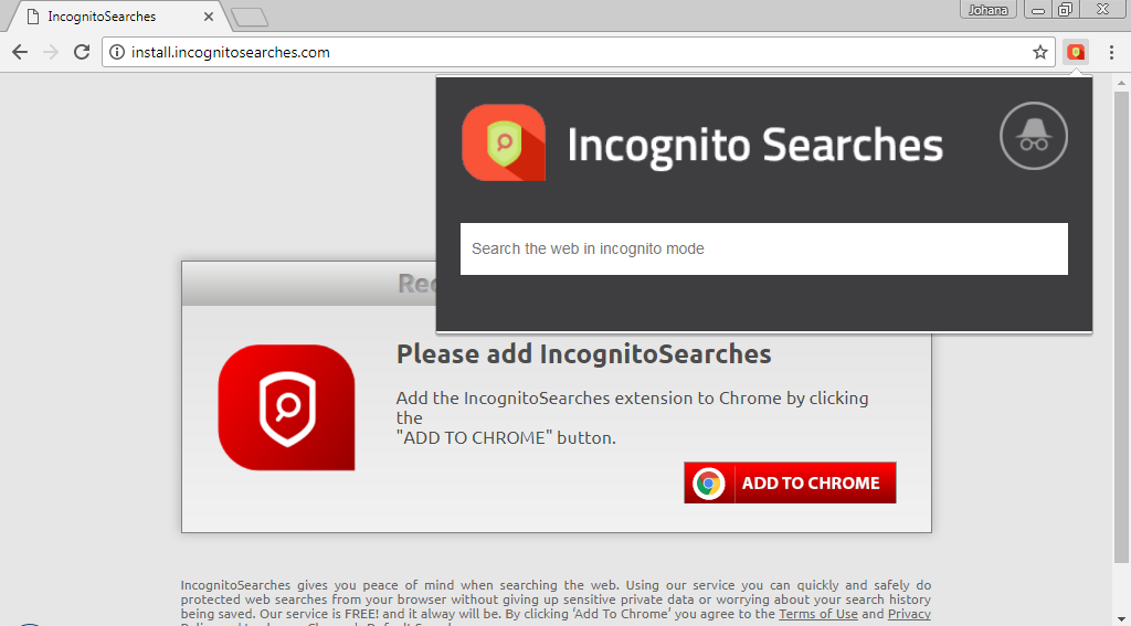 how to use incognito search